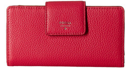 New Fossil Women's Sydney Tab Clutch Wallet Pomegranate Color - $44.99