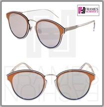 Christian Dior Nightfall Crystal Orange Silver Mirrored Sunglasses Diornightfall - $301.95