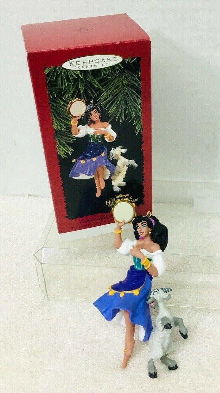 1996 Esmerelda and Djali Hallmark Christmas Tree Ornament MIB Price Tag