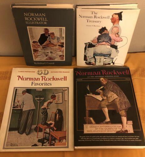 Lot of 4 Norman Rockwell Illustrator Treasury Favorites Saturday Evening Post