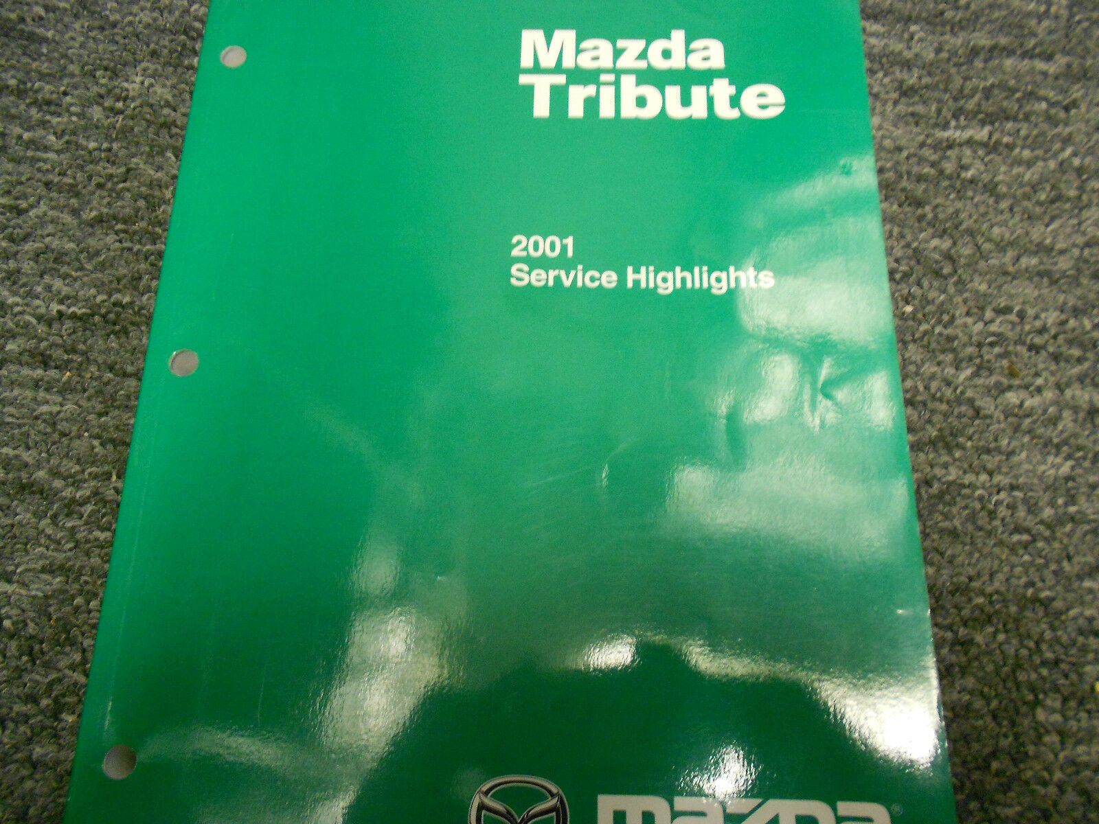 Primary image for 2001 Mazda Tribute Service Highlights service Repair Shop Manual FACTORY BOOK 01