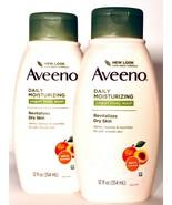 2 Bottles Aveeno 12 Oz Daily Moisturizing Yogurt Apricot Scented Body Wash  - $24.99