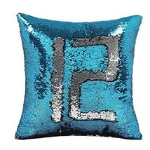 Reversible Glitter Mermaid Pillow Cover Throw Cushion Case Magic Sequin ... - $9.82