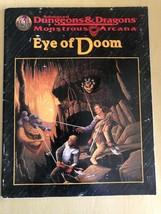 Advanced Dungeons & Dragons Monstrous Arcana Eye Of Doom TSR 1996 Good Cond - $18.71