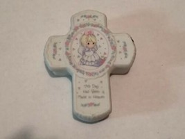 Precious Moments Cross Trinket Box, This Day Has Been Made In Heaven - $5.89
