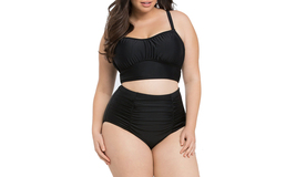 Women's Ruched High Waist Two Pieces Bikini Set - $20.99