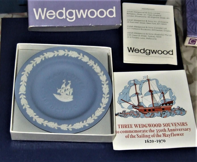 Wedgwood - Mayflower Sweet Dish in Blue & White Jasper image 4