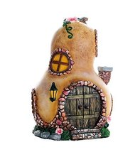 Miniature Fairy Garden of Enchantment Fairy Gourd Cottage Figurine Displ... - £18.93 GBP