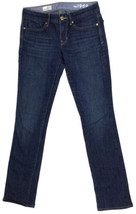 "Gap 1969 Women's Jeans Sz 25/0R W28"" L38"" Real Straight Stretch Dark Blu... - $26.12"