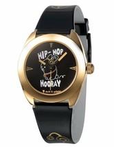 David & Goliath Hip Hop Hooray Black and Gold Watch DGW02HOP NIB