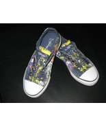 Ed Hardy Girls NAVY BLUE Canvas Sneakers Eternal Love Graphic Shoes Size... - $31.66