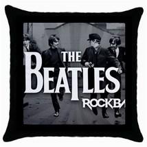 The beatles 28 throw pillow case  black  thumb200