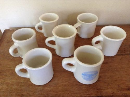 d13a549fd86 Vintage Lot 7 Buffalo Victor China Restaurant Ware Diner Coffee Cups Mugs  White - $34.58
