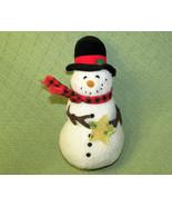"10"" HALLMARK HAPPY SNOWMAN WOOLY WITH YELLOW STAR PLUSH STUFFED CHRISTMA... - $22.77"