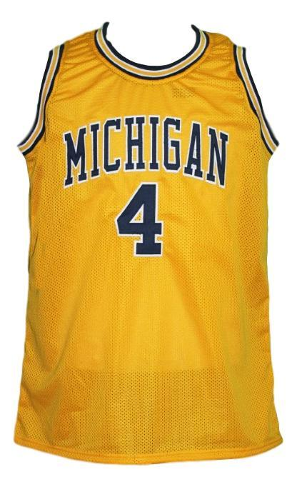 Chris Webber #4 Custom College Basketball Jersey New Sewn Yellow Any Size