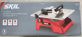 "Skil 7"" Wet Tile Saw Stainless Steel Tabletop Adjustable Bevel 0-45 3540-01 - $78.25"