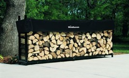 Woodhaven 10' Firewood Rack and Standard Cover in Black - $225.00