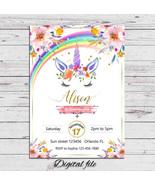 Blue unicorn invitation thumbtall