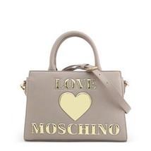 Love Moschino Women's Bag, Top Handle Shoulder Handbag - Grey / White / Red - $152.58