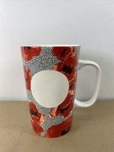 2015 Starbucks Dot Collection Red Floral Poppy 16 oz Mug Cup  - $19.95