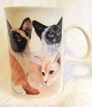 Vintage DUNOON Stoneware Scotland Coffee Cup Mug Deborah Pope CATS - $19.95