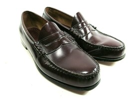 Bass Weejuns Larson Mens Burgundy Moc Toe Penny Loafers Size US 11.5 D - $58.41
