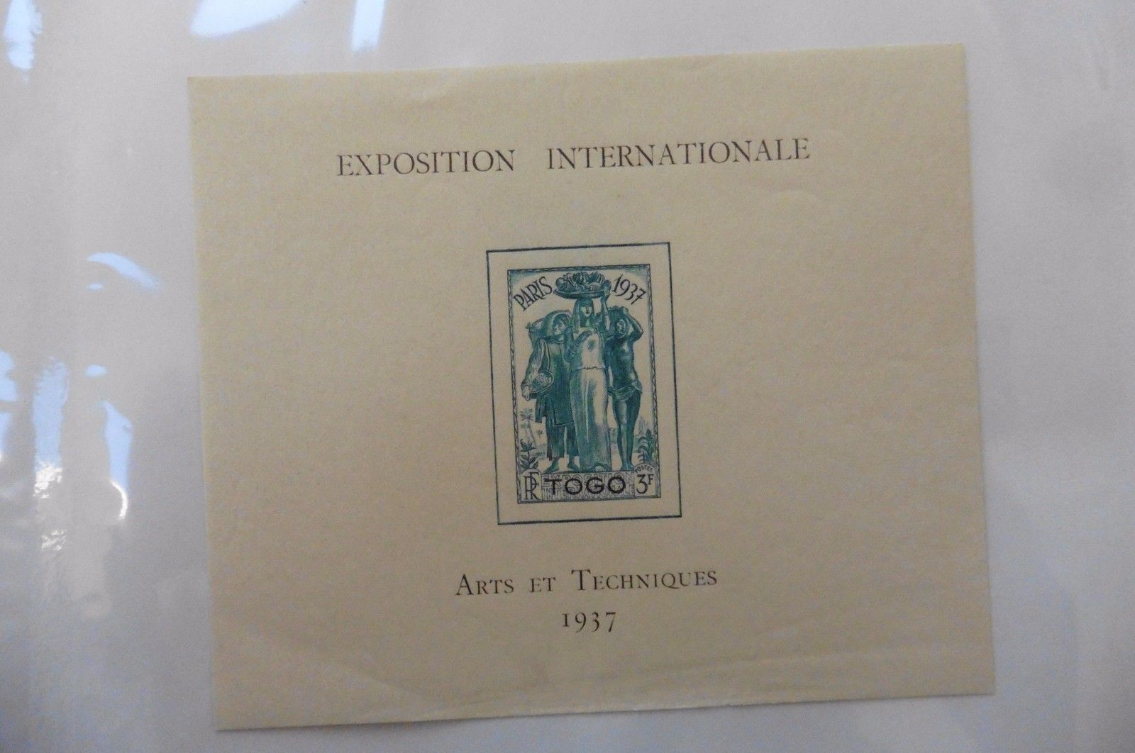 G98 Togo Selections Scott #264 3Fr Colonial Arts EXPO Paris 1937 lightly hinged