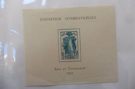 G98 Togo Selections Scott #264 3Fr Colonial Arts EXPO Paris 1937 lightly... - $19.86
