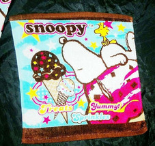 Snoopy Woodstock Ice-cream Treat 34x35 Cm Daily Easy Use Cotton Face Hand Towel - $8.88