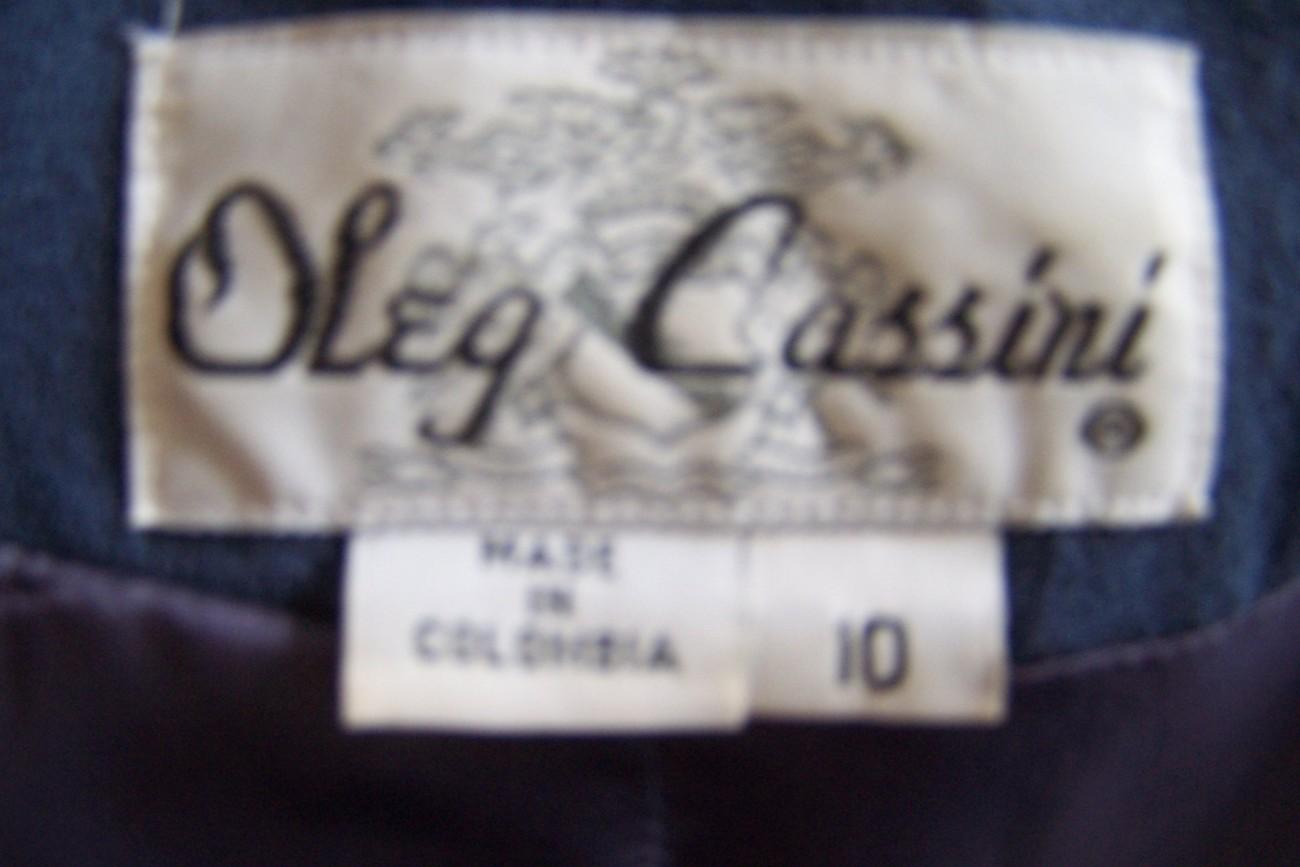 OLEG CASINNI Suit,10-12, Genuine Mink Fur Collar