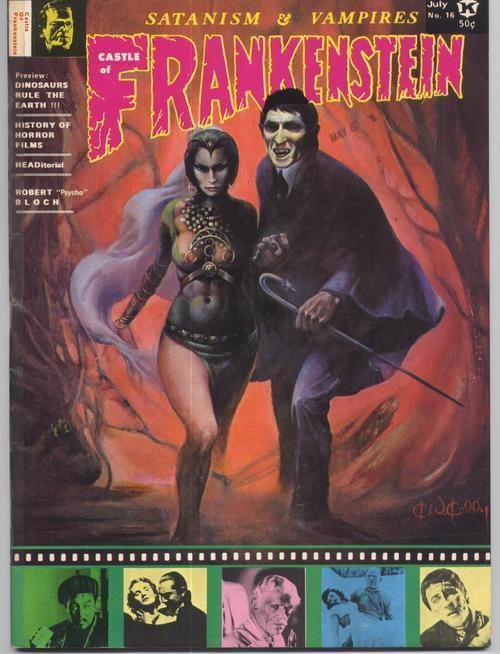 Primary image for Castle Of Frankenstein #16 Satanism & Vampires Dinosaurs Rule The Earth R Bloch