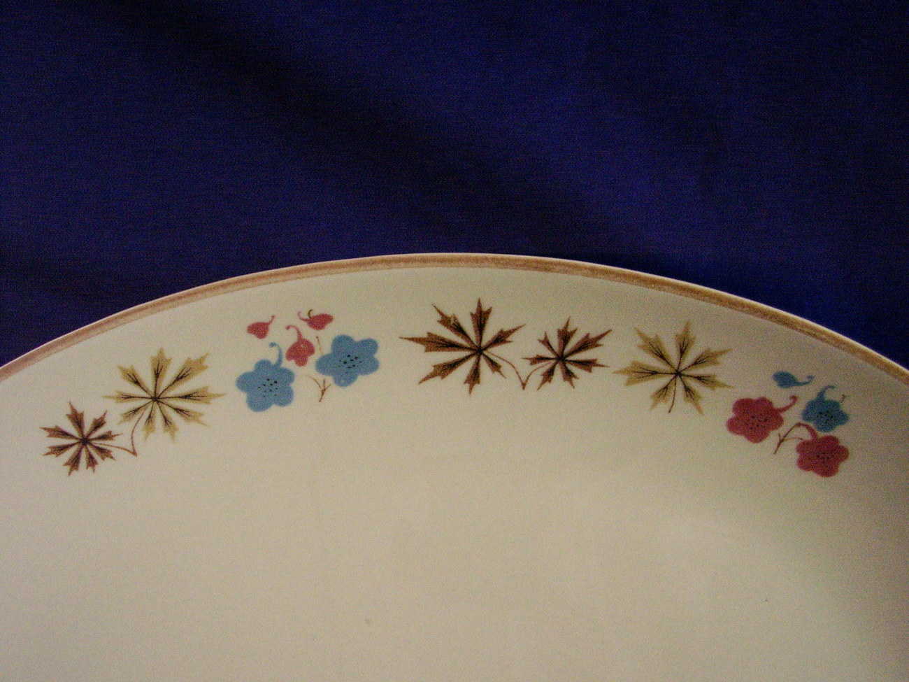 Franciscan China Larkspur Oval Serving Platter Vintage