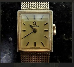 1970 omega 10k gold filled 17 jewel ladies watch serial H-5330  - $1,722.60