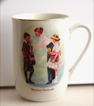 "Norman Rockwell Mug "" The First Day of School"" (1986)   - $10.00"
