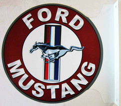 "Ford Mustang Flange Sign 12"" Diameter - $60.00"