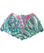 Sequin Vampire Bat Top Costume Turquoise Pink S... - $29.99