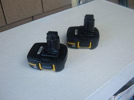 Dewalt (2) 18 Volt LI-ION DC9181 Type 1 Battery Packs In Good Working Condition. - $85.00