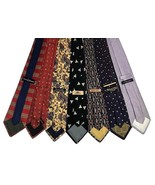 7 Men's Ties Tommy Hilfiger, Land's End, Banana Republic, JOS. A. Bank, - $34.95