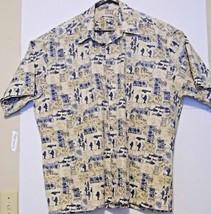 1f5a8b56a Pierre Cardin Mens Hawaiian Short Sleeve Button Up 100% Cotton Floral Sh..