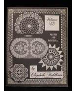 Vintage Crochet Patterns Elizabeth Hiddleson Vol. 13 Doilies - $5.99