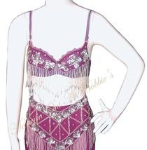 Harem Belly Dancer Costume 4pc Set Berry Plum Size M/L Halloween - $69.99