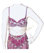 Harem Belly Dancer Costume 4pc Set Berry Plum S... - $69.99