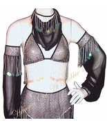 Harem Belly Dancer Costume 5pc. Set Black Size ... - $49.99