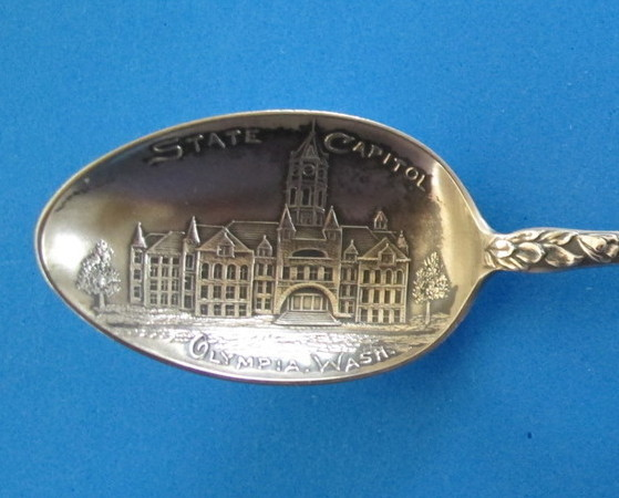 Olympia Washington Sterling Silver Souvenir Collector Spoon State Capitol Mayer