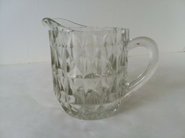 Small Personal Cut Glass Juice Milk Pitcher Breakfast in Bed - $16.82