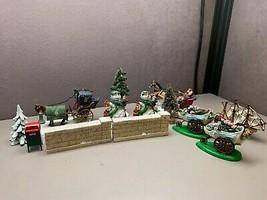 Lot of 13 Christmas Snow Village Miscellaneous Dept. 56 Plus More Miniat... - $65.83