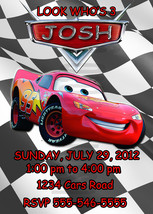 Personalized Cars Lightning McQueen Birthday Invitation Digital File, Yo... - $8.00