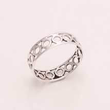 925 Sterling Silver Plain Silver Designer Ring 6.5 us Small Cute Ring r1850 - £5.74 GBP
