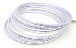 VTG Metallic Light Purple Bangle Bracelet Set (7) - $7.92