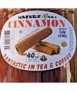 RAW HONEY with CINNAMON (2 Jars) 2.5 Lbs / 40oz 100% PURE RAW UNFILTERED USA - $39.55
